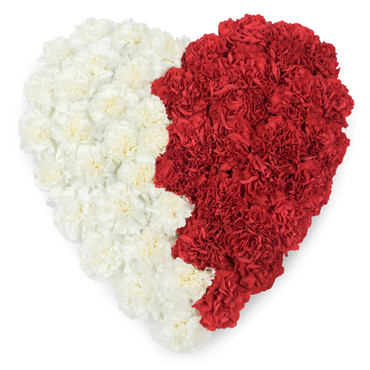 Heart Shaped Funeral Tributes